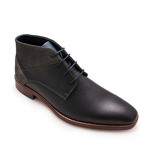 Zerimar Chaussures en Cuir pour Homme   Chaussures Élégantes Noir BhAegSqKZ7