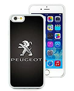 Beautiful Designed Cover Case For iPhone 6 4.7 Inch TPU With Peugeot logo 2 White Phone Case
