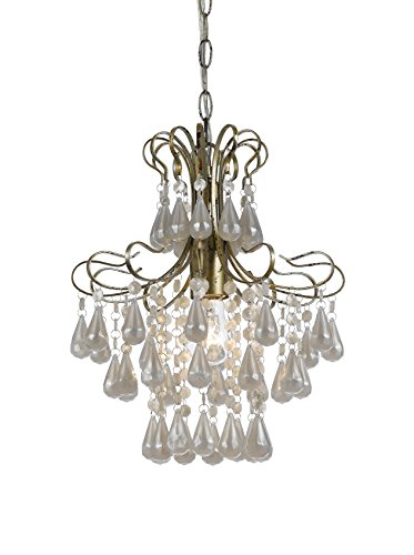 AF Lighting 8693-1H Tiffany Mini White Pearl Chandelier (Pearl White Chandelier)