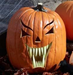 WMU - Glow in the Dark Fang Pumpkin Teeth (18 count), ,