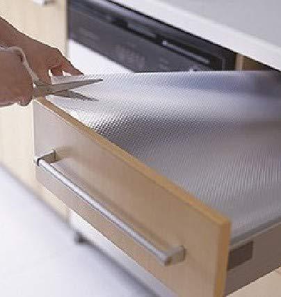 TradeVast® EVA Shelf Liner Mat Drawer Multipurpose Durable and Strong, Anti Slip Liners for Drawers, Shelves, Kitchen Cabinets, Storage, Kitchens and Desks EVA Full Length 5 Meter Anti Slip Grip Mat - Size 45 X 500 cm