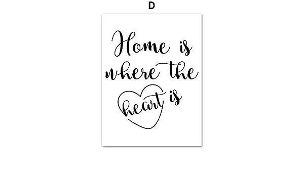 Creativo Simple Paris Rose Perfume geométrico Corazón Citas Arte de la pared Pintura de la lona Nórdicos Carteles e impresiones de la pared Cuadros para la sala de estar Decoración 50 *