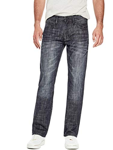 GUESS Factory Men's Rowland Relaxed Straight Jeans ()