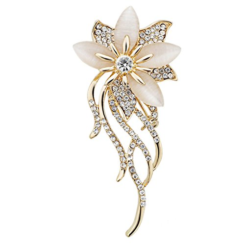 Xiongzhen Noble Opal Crystal Flower Brooch Pin Garment Accessories Jewelry For Wedding Bridal Z020