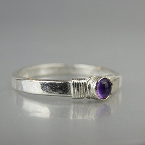 Sterling Silver Made To Order Amethyst Stacking Rings