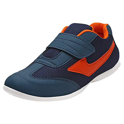 AUTHENTIC VOGUE Women's Multi-Sports Running/Jogging Shoes in Ultra Lightweight Sole with Hook & Loop Fastner- Orange & Black