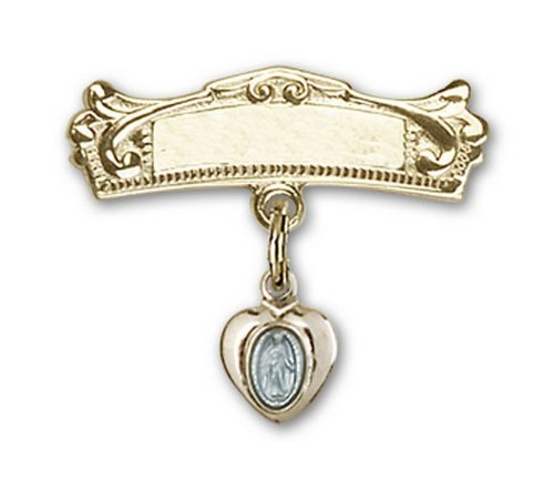 Icecarats Créatrice De Bijoux Plaque Or Sur Bleu Argent Miraculeuse Or Charme Rempli Broches Badge Arc