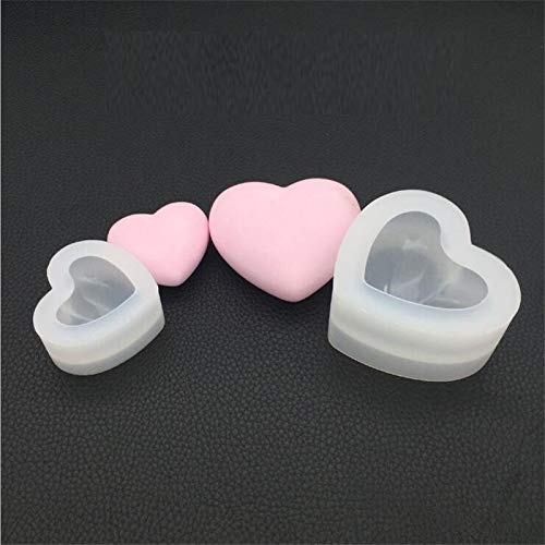 Welcome to Joyful Home 2pcs/Set Big and Small 3D Heart Casting Mold Silicon Mould Resin Jewelry Making DIY Craft DaDaJing RM006