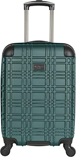 Ben Sherman Nottingham 20 Carry-On Lightweight Hardside 4-Wheel Spinner Cabin Size Travel Suitcase, Emerald, inch