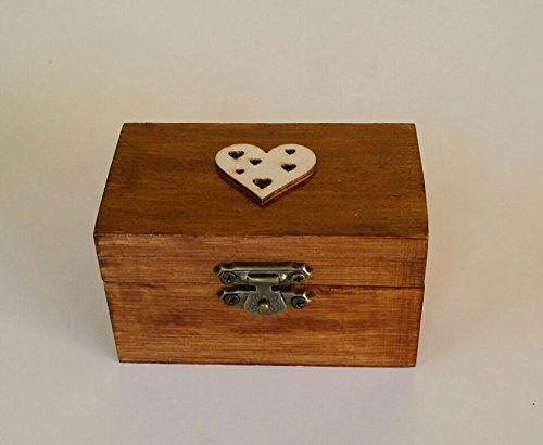 Caja alianzas,caja anillos boda de corazón, especial bodas ...