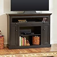 Traditional Design and a Versatile Howland Wood Espresso TV Stand Can Accommodate 46 TV Make It an Effortless Addition to Your Space ( TV Sold Separately)