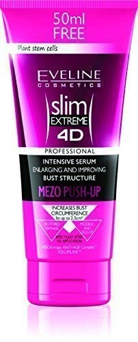 Breast Lift Cream - Eveline Slim Extreme 4D Bust Enhancing Serum Mezo Push-Up, 7.04 Fluid Ounce