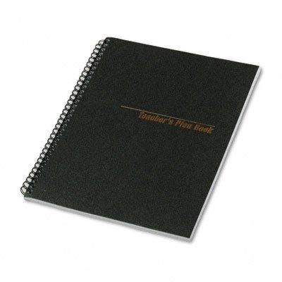 National Brand - Teacher's Plan Book, 40-Week, 11 x 8-1/2, 56 Sheets, Black Cover
