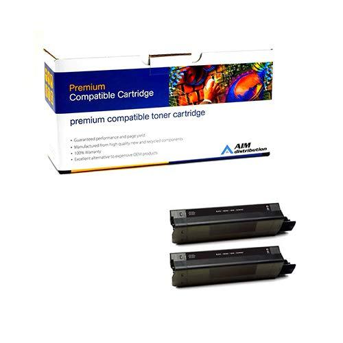 AIM Compatible Replacement for Okidata C5850/5950 Black Toner Cartridge (2/PK-8000 Page Yield) (438657242PK) - Generic