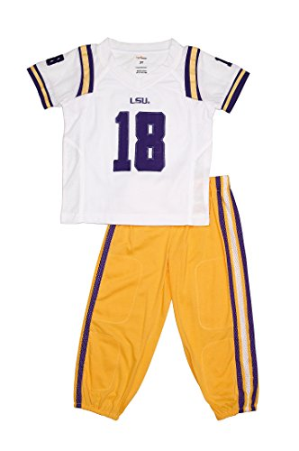 FAST ASLEEP LSU Tigers Away Uniform Pajama Set New