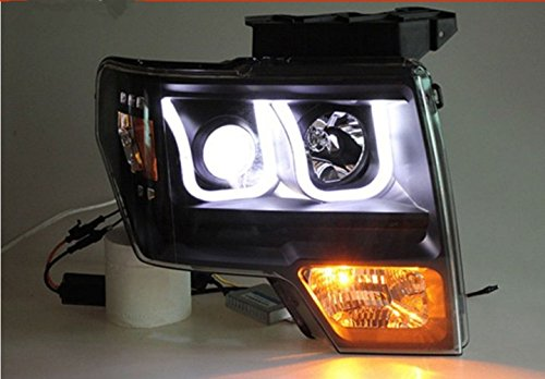 GOWE Car Styling For Ford Raptor headlights 2009-2014 head lamp led DRL front Bi-Xenon Lens Double Beam HID KIT Color Temperature:8000k;Wattage:55w 0