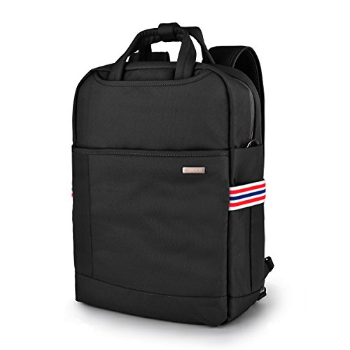 Laptop Backpack, Computer Bag, BusinessTravel Shoulder Bag, Carry Bag, College Backpack Fits Under 15.6-Inch Laptop Notebook (Black)