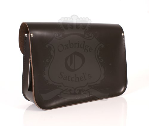 Oxbridge Satchel's , Borsa Messenger  unisex adulto Marrone scuro 38 cm