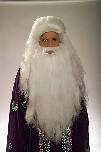 Forum Novelties White Sorcerer & Beard Wig -