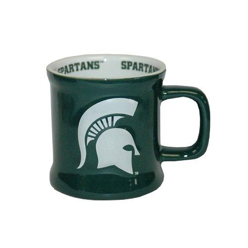 NCAA Michigan State Spartans Relief Logo Ceramic Mug, One Size/10 oz, Multicolor