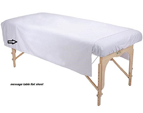 1 White Massage Table Flat Sheet Ribbed Flannel Blanket Supr