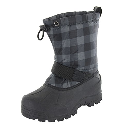 Premier Youth Panel - Northside Kid's Frosty Winter Snow Boot, Black/Gray, 1 M US Little Kid