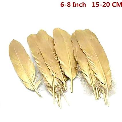 be27088864fa Shoppy Star Venta al por mayor Glitter Gold Silver Dipped Plumas de ganso pato  para