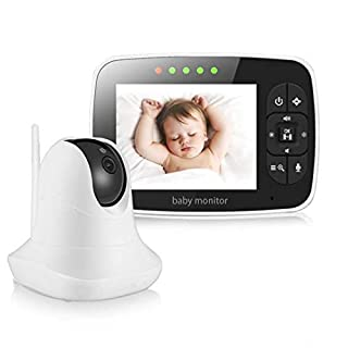 Baby Monitor, Video Baby Monitor with 3.5'' LCD Screen, Wireless Night Vision Dual View Video,  Newborn Baby Monitor with Pan/Tilt/Zoom Night Vision Digital Color Camera, Two-Way Audio