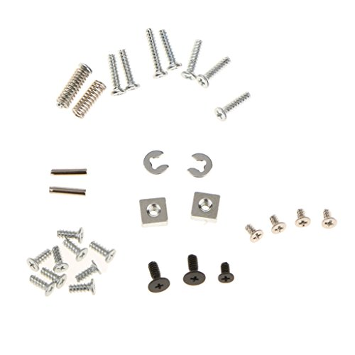 (Homyl Replacement Full Screws Set + L R Springs + Strut Small Metal Fittings Full Set for Nintendo 3DS XL/LL Game Console)