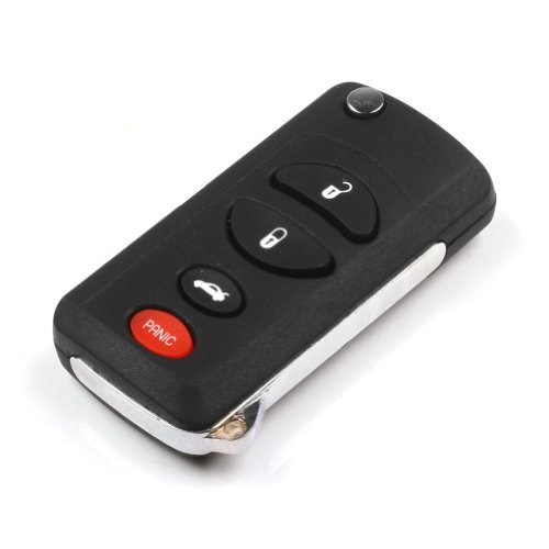 ARANA Uncut Folding Flip Remote Key Shell Case for 2002-2004 Jeep Liberty 4 Buttons