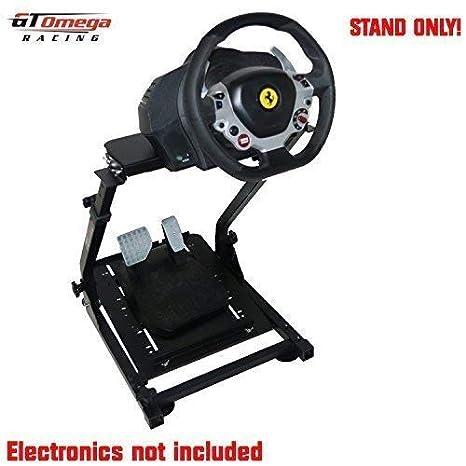 GT OMEGA Lenkradständer für Thrustmaster TX Racing Rad Ferrari 458 Italia & Pedalsatz, Xbox One, PC - Kompakt, Zusammenklappb