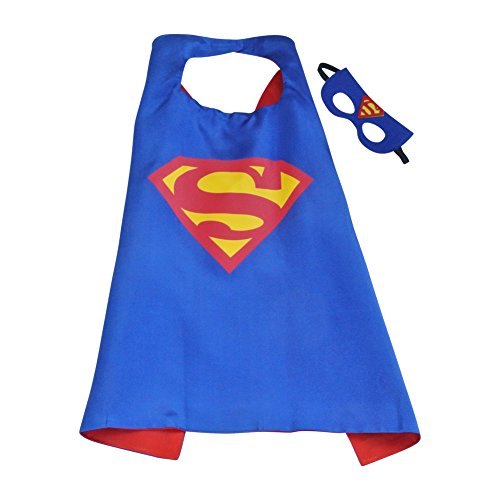 For Superman Outfits Toddlers (Toddler Boy Girl Super Heroes Costumes with Satin Cape and Felt Mask)