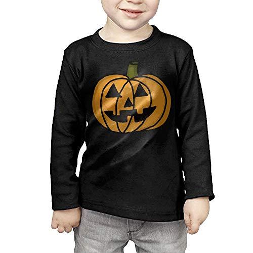 Toddler Pumpkin Clip Art Halloween ComfortSoft Long Sleeve Shirt -
