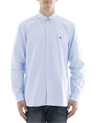 Burberry Men's 404689342870 Light Blue Cotton Shirt