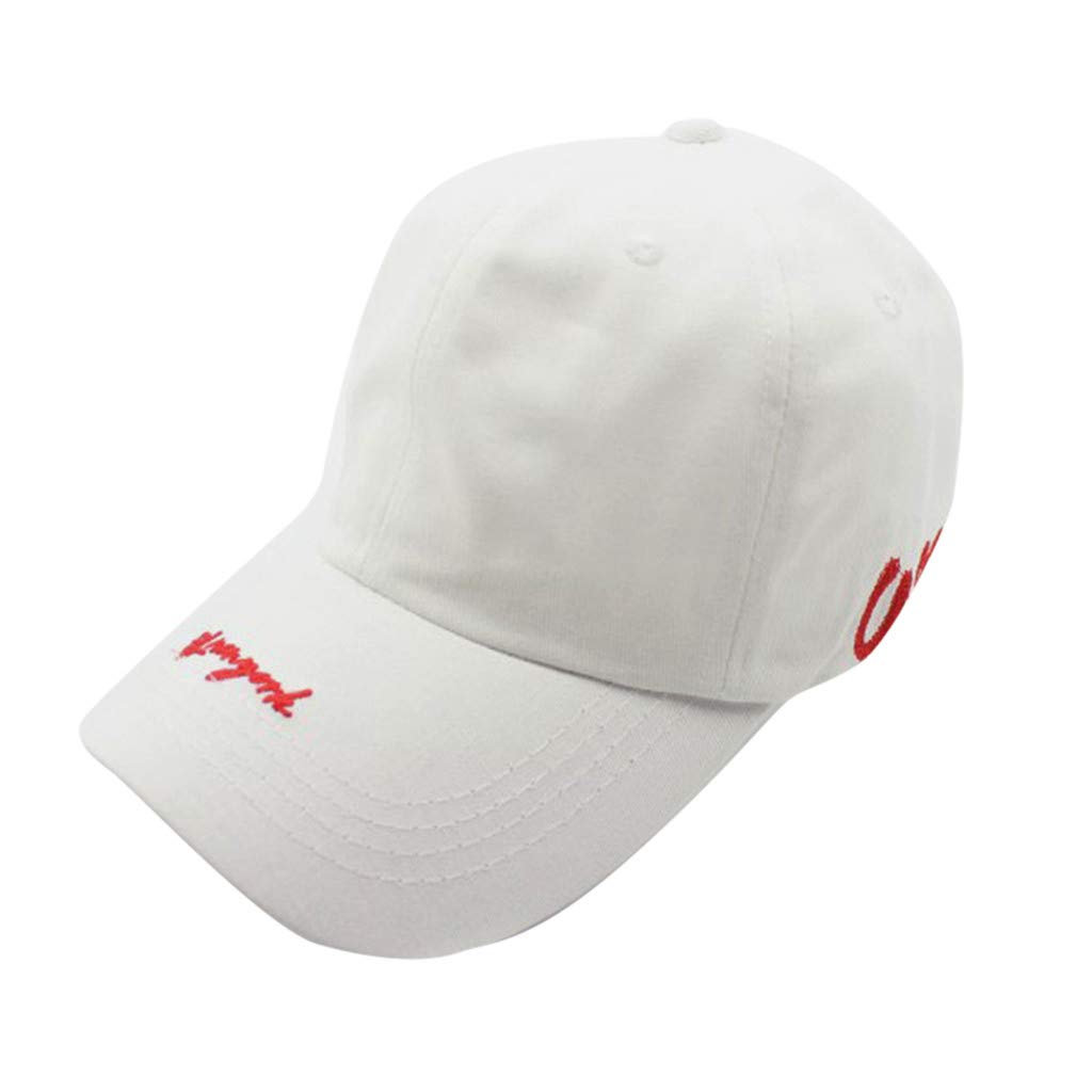 Tanlo 2019 Womens Mans Unisex Adjustable Cotton Hats Embroidered Baseball Caps Dad Hats (White, Head:56-60cm/22.0-23.6'')