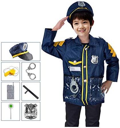 [スポンサー プロダクト]Emfay ハロウィン 衣装 なりきり コスプレ キッズコスチューム パーティー用品 子供 警察官 8点セット フリーサイズ
