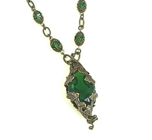 Yavanna Brass Filigree Necklace Jewelry Tolkien Inspired Lord of the Rings Silmarillion (16 Inches) (Earth Goddess Costume)