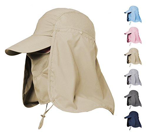 fc1d51b3d55 Jormatt Men   Women Outdoor Sun Hat Fishing Hiking Running Gardening Hat  with Face Neck Flap