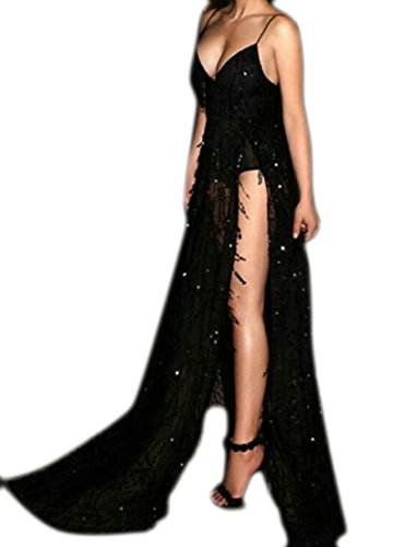 Spaghetti Party Dresses Evening Black Bridesmaid Alion Straps Gold Women Gown for Wedding Elegant Dresses Sequins PUndqfRwY