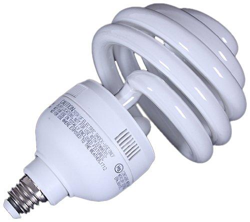 CowboyStudio 55 Watt Top Spiral Compact Fluorescent Daylight Balanced Light Photo Bulb, UL Listed (55w Spiral)