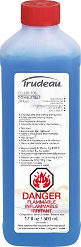 Fuel Alcohol Gel - Trudeau 082337 Gelled Fuel 12oz, 17 oz, Blue