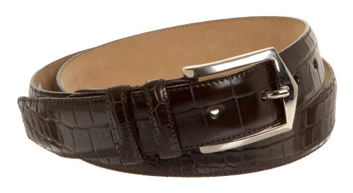 AO76Mezlan Men's #7645 Belt,Dark Brown,44