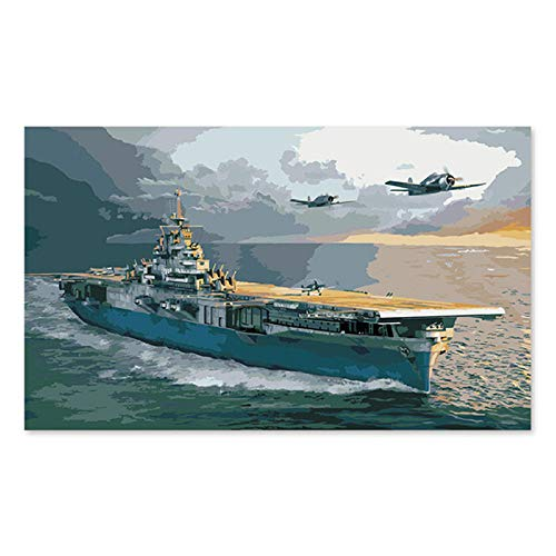 aoyuff Painting by Number Fill Handmade Gift Decoration Military Aircraft of WWII Fighter Carrier - Wwii Aircraft Fighter
