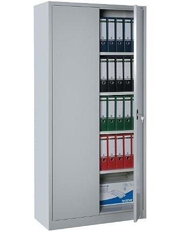 2x Stahlschrank 195x92x42 Büroschrank Akten Lichtgrau//Blau Metallschrank