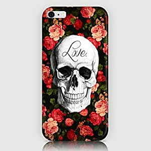 YULIN Roses Skulls Pattern Back Case for iPhone 6 Plus