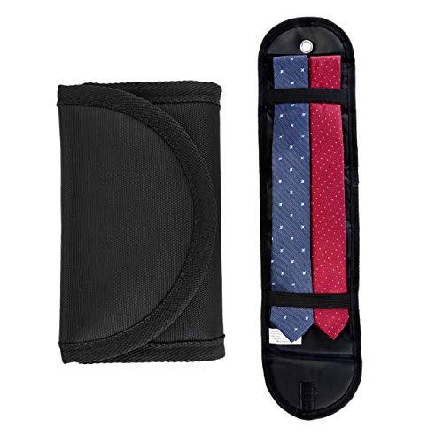 Yerwal Travel Tie Case, Men Business Travel Essentials Roll Travel Tie Case Storage