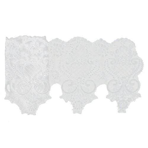 Amazon.com: Cinta apliques Flor del ajuste del cordón del Vestido de Novia eDealMax Velo de las lentejuelas brillantes Decoración: Health & Personal Care