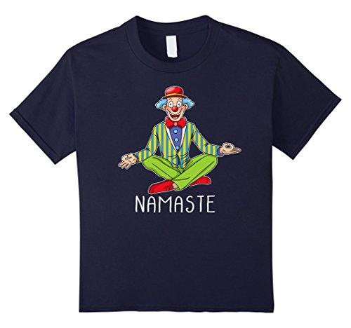Kids Halloween Zen Yoga Clown T-shirt Clown Meditation Costume 12 Navy