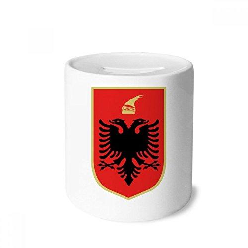 DIYthinker Albania Tirana National Emblem Money Box Saving Banks Ceramic Coin Case Kids Adults