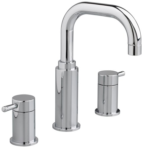 American Standard Metal Pop Up Faucet - American Standard 2064.801.002 Serin Two-Handle Widespread Lavatory Faucet with Metal Speed Connect Pop Up Drain and Lever Handles, Polished Chrome